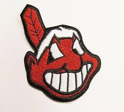 LOT OF MLB BASEBALL CLEVELAND INDIANS EMBROIDERED PATCH  IT
