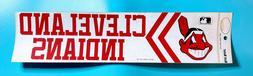 "1970's Cleveland Indians 4"" X 14"" Bumper Sticker MLB Rare Ol"