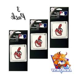 3x Cleveland Indians *AIR FRESHENERS* MLB Licensed Forest Pi