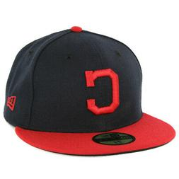 New Era 59Fifty Cleveland Indians HOME Fitted Hat  Men's MLB