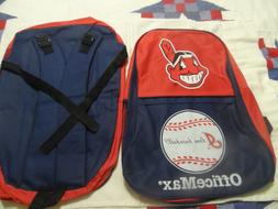 AL CHAMPS CLEVELAND INDIANS BACK PACK RED NAVY WAHOO NWOT OF