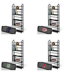 MLB Bookshelf Black Metal Team Logo Decal 5 Tier Utility Dis