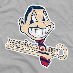 Caucasians Shirt Cleveland Indians Logo Parody Chief Wahoo I