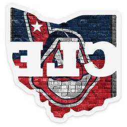 Chief Wahoo clear STICKER Cleveland Indians Custom Vinyl  ML
