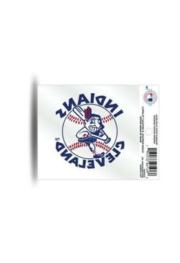 """CLEVELAND INDIANS 1970'S STYLE CHIEF WAHOO DECAL CLING  3""""X4"""