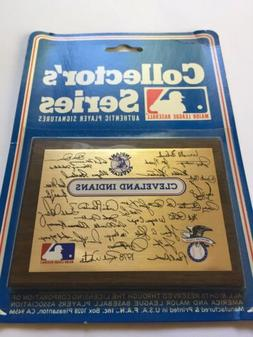 Cleveland Indians 1978 Collectors Plaque Factory Sealed New