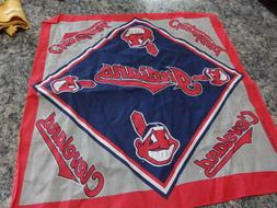 Cleveland Indians 21in by 21in. finished cloth 100% cotton m