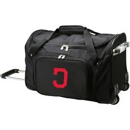 "Cleveland Indians 22"" 2-Wheeled Duffel Bag - Black"