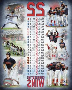 Cleveland Indians 22 Consecutive Wins Composite 8x10 Photo