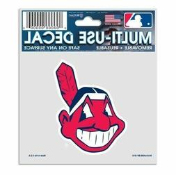 "Cleveland Indians 3"" x 4"" Chief Wahoo Truck Car Window Multi"