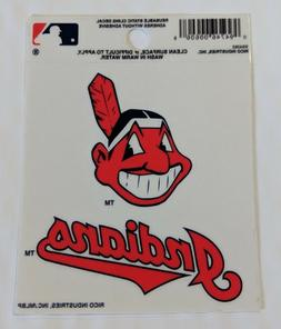 "Cleveland Indians 3"" x 4"" Small Static Cling Truck Car Windo"