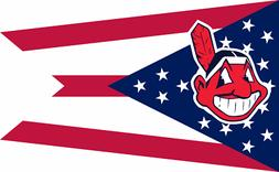 Cleveland Indians 3' x 5' MLB Baseball Flag-Banner US SELLER