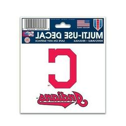 "CLEVELAND INDIANS 3""X4"" MULTI-USE DECAL PERFECT FOR CAR WIND"