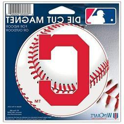 "Cleveland Indians WinCraft 5"" Die-Cut Car Magnet"