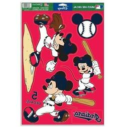 """CLEVELAND INDIANS 5 PIECE MICKEY MOUSE DECALS 11""""X17"""" WALL G"""