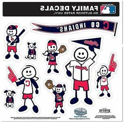 Cleveland Indians 9 Piece Jumbo Family Decals -NEW Auto Car