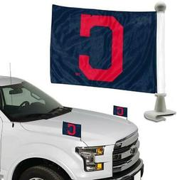 Cleveland Indians Ambassador Car Flag 2 Piece Set  MLB Banne