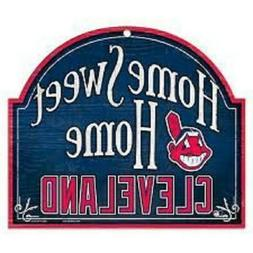 Cleveland Indians Arched Home Sweet Home Wood Sign  MLB Plaq