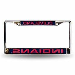 Cleveland Indians Auto Tag Laser Cut Chrome License Plate Fr