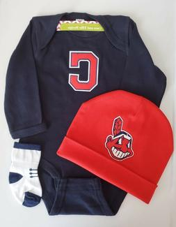 Cleveland Indians baby boy outfit/ Indians baby clothes boy/
