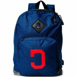 Cleveland Indians Backpack With Front Pocket Zipper 17X12X6