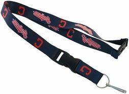 Cleveland Indians Breakaway Lanyard Keychain Key Ring MLB