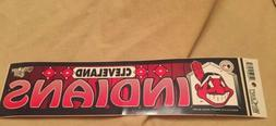 Cleveland Indians Bumper Sticker Pre Owned Not Used.