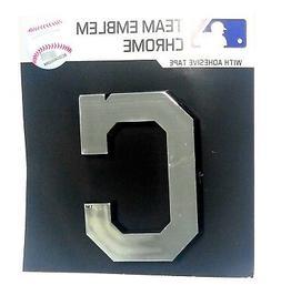 Cleveland Indians C Logo CE Silver Chrome Color Raised Die C