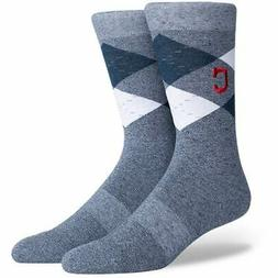 Cleveland Indians Case Crew Socks - Navy