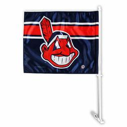 Cleveland Indians Chief Wahoo Car Auto Window Flag
