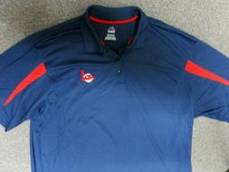 CLEVELAND INDIANS CHIEF WAHOO MENS DRI FIT MENS SHIRT POLO N