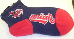 Cleveland Indians Chief Wahoo Youth Quarter Socks FREE SHIPP