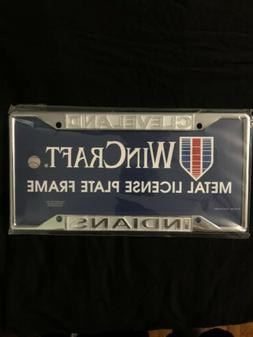 Cleveland Indians Chrome Frame Metal License Plate Cover Bas