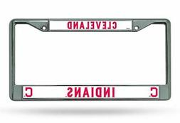 Cleveland Indians Chrome License Plate Frame Tag Cover Car/A