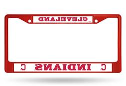 Cleveland Indians Chrome Metal Auto Car Truck Tag License Pl