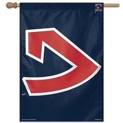 """CLEVELAND INDIANS COOPERSTOWN COLLECTION 28""""X40"""" BANNER FLAG"""
