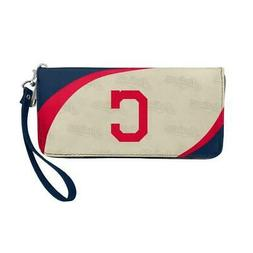 Cleveland Indians Curve Style Wallet Organizer  MLB Bag Purs