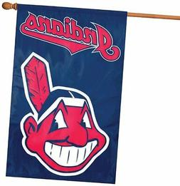 Cleveland Indians Deluxe 2-sided 28x44 Embroidered Applique