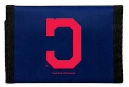 Cleveland Indians Deluxe Nylon Trifold Wallet with Hook & Lo