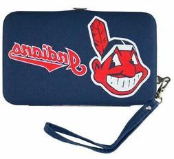 Cleveland Indians Distressed Wallet Wristlet Case