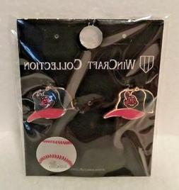 CLEVELAND INDIANS EARRINGS MLB CHIEF WAHOO LOGO BASEBALL CAP