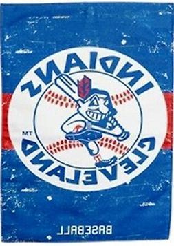 Cleveland Indians EG VINTAGE RETRO 2sided 28x44 BANNER CHIEF