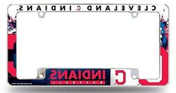 Cleveland Indians EZ View All Over Chrome Frame Metal Licens