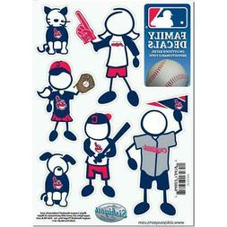 Cleveland Indians Family Decals 6 Pack  MLB Small Auto Car S