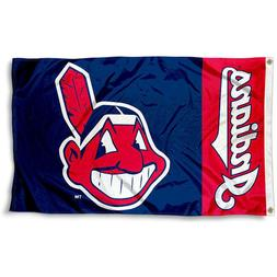 CLEVELAND INDIANS FLAG 3'X5' MLB BANNER: FAST FREE SHIPPING