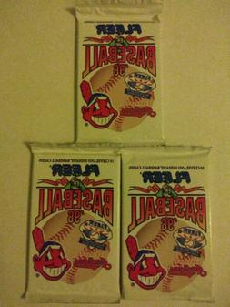 Cleveland indians Fleer 1996 Team Packs Sealed Lot Of 3