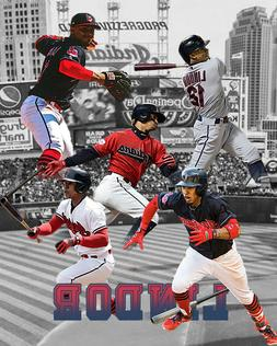 Cleveland Indians  Lithograph print of  Francisco Lindor 8 x