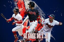 Cleveland Indians  Lithograph print of  Francisco Lindor 202
