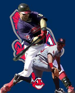 Cleveland Indians  Lithograph print of  Jim Thome