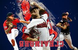 Cleveland Indians  Lithograph print of  Mike Clevinger 17 x